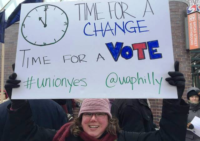 Rallying for adjuncts at Temple University